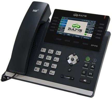 Zultys ZIP 47G Advanced Color Gigabit IP Business Phone